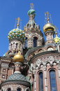 Domes of the church of the saviour on spilled blood in saint petersburg russia Stock Photos