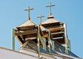 The domes of greek catholic church in kiev ukraine Stock Photos