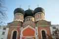 Domes of Intercession cathedral, Izmaylovo Estate, Moscow, Russi Royalty Free Stock Photography