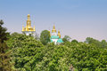 The domes of Kiev-Pechersk Lavra, Kyiv, Ukraine Stock Images