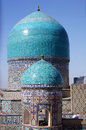 Domes of mosque in Samarkand, Uzbekistan Royalty Free Stock Photography
