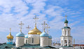 Domes of Nicholas Cathedral in Kazan Royalty Free Stock Photo