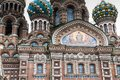 Domes of the Orthodox Church - Savior on Blood in St. Petersburg, Russia