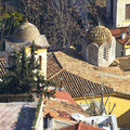 Domes and roofs at Plaka, Athens\' old town Royalty Free Stock Photo