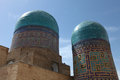 Domes of shakhizinda tiled the mausoleum complex samarkand uzbekistan Royalty Free Stock Photos
