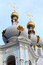 Domes Smolny Cathedral Stock Image