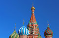 Domes of St. Basils cathedral in Moscow, Russia Royalty Free Stock Photo