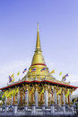 Domes at temple from bangkok thai Royalty Free Stock Images