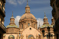 The Domes of Zaragoza Cathedral Royalty Free Stock Photography