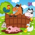 Domestic animals vector illustration eps Stock Photos