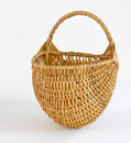 Domestic basket hand woven wicker Royalty Free Stock Photography