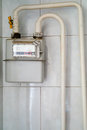 Domestic gas meter Royalty Free Stock Photo