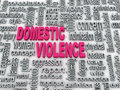 Domestic violence d concept diagram wordcloud illustration of Royalty Free Stock Image