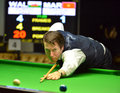 Dominic dale of wales bangkok thailand sep in action during sangsom six red world championship at montien riverside hotel on Royalty Free Stock Image