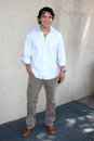 Dominic zamprogna arriving at the general hospital fan club luncheon at the airtel plaza hotel in van nuys ca on july Royalty Free Stock Photography