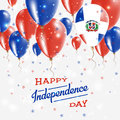Dominican Republic Vector Patriotic Poster.