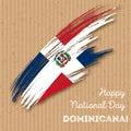 Dominicana Independence Day Patriotic Design.