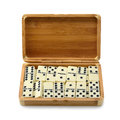 Domino in box Royalty Free Stock Photo