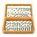 Domino in box Royalty Free Stock Photo
