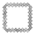 Domino frame made by pieces Royalty Free Stock Image