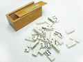 Domino game white isolated in white background Stock Photo
