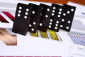 Domino risk Royalty Free Stock Photo