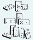 Dominoes set Stock Image