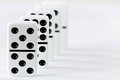 Dominoes the situated as cut Royalty Free Stock Images