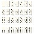 Dominoes tiles white vector isolated flat blocks Royalty Free Stock Photo
