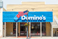 Dominos Pizza and American Flag Royalty Free Stock Photo