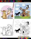 Don Quixote for coloring Royalty Free Stock Photos