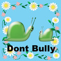 Don t bully snails poster green in flower frame illustration Stock Images