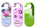 Don't disturb signs Stock Images