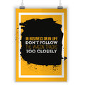 Don t follow the wagon tracks. Motivational quote. Positive affirmation for poster. Vector illustration.