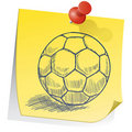 Don't forget soccer practice sketch Stock Image