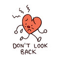 Don't look back broken heart Royalty Free Stock Photo