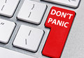 Don't panic Royalty Free Stock Photo