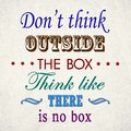 Dont think outside the box Royalty Free Stock Photo