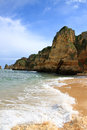 Dona ana beach lagos portugal in algarve Royalty Free Stock Photography