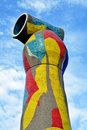Dona i Ocell Joan Miro's sculpture in Barcelona Stock Photography
