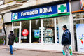 Dona pharmacy store in bucharest romania Stock Images