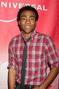 Donald glover los angeles jan arrives at the nbc tca winter party at langham huntington hotel on january in westwood ca Stock Photography