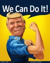 Donald Trump - We Can Do it! themed Cartoon Portrait