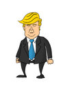 Donald trump caricature looking glum and frowning Stock Images