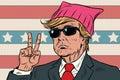 Donald Trump President, feminist pink pussy hat