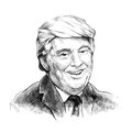 Donald Trump is smiling - Artistic Portrait