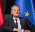 Donald tusk gdansk poland may president of the european council during events to mark the th anniversary of the victory over Stock Photo