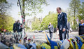 Donald tusk in kiev april ukraine president of the european council visited the place of death activists of euromaidan Stock Images