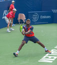 Donald young plays center court at the winston salem open Stock Image