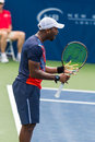 Donald young plays center court at the winston salem open in winston salem nc Stock Photo